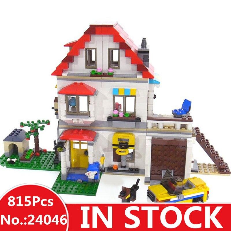 H & HXY 24046 новые игрушки 815 шт. творческий серии 31069 Семья Вилла Набор модель здания Лепин блоки кирпичи развивающие игрушки для детей