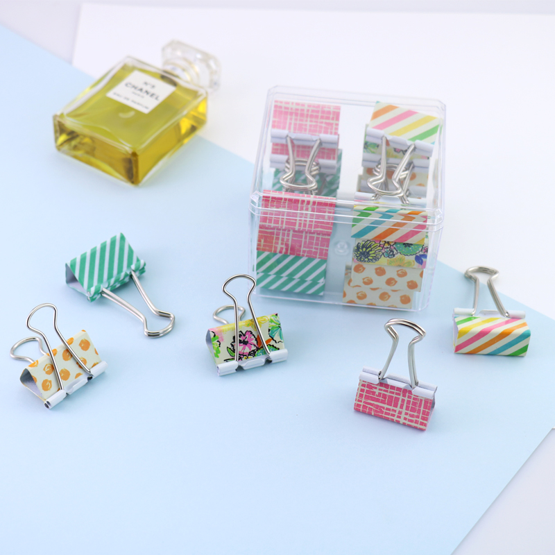 TUTU 32mm Binder Clips Big Color Clips Document Paper Clips With Clip Holder Fashion Office Accessories School Supplies H0131