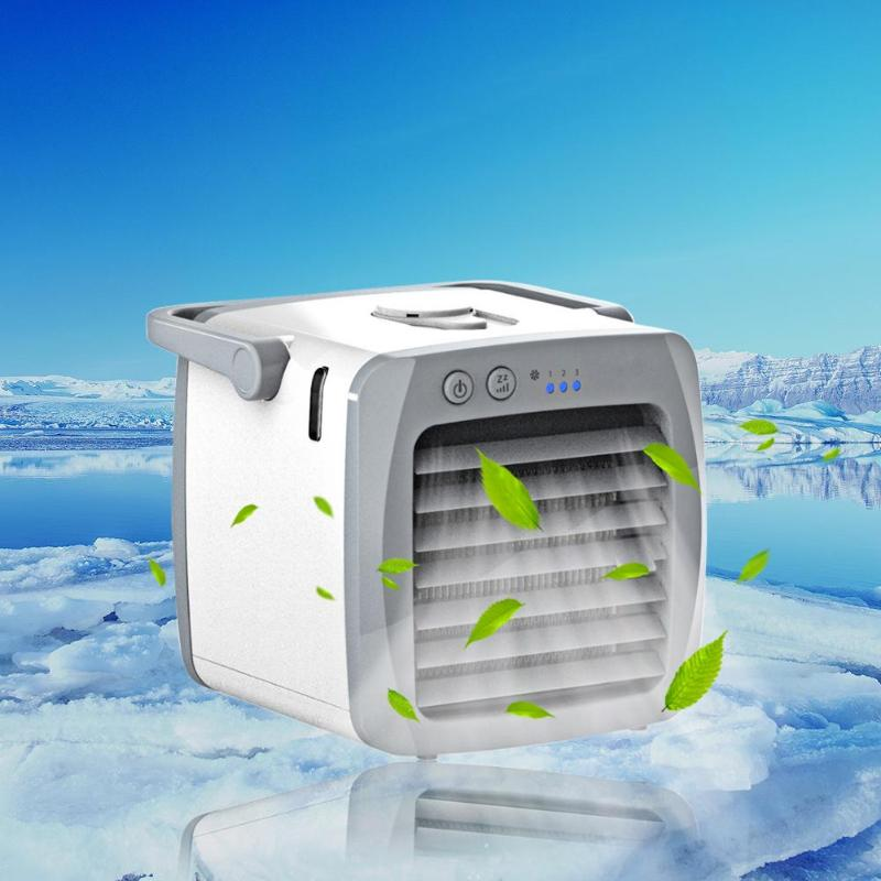 Mini Air Conditioner Portable USB Air Cooler Handy Air Conditioning Machine Personal Space Cooling Fan Cooler for Home Office portable size household office use handy cooler portable size table desktop fan cooler air conditioning cooler fan gift