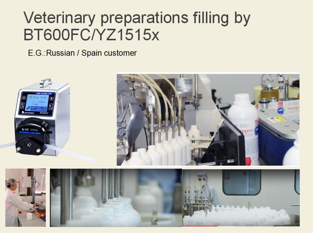 BT600FC filling veterinary preparations
