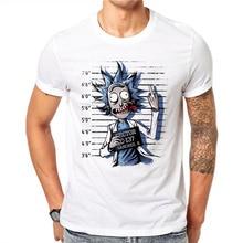 100 Cotton Summer Novelty Prisoners Design Men T Shirts Fashion Rick and Morty Print Man Short