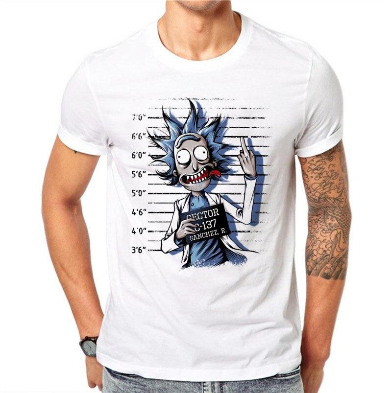 100% Cotton Summer Novelty Prisoners Design Men   T     Shirts   Fashion Rick and Morty Print Man Short Sleeve Tops Tees Clothes 4XL