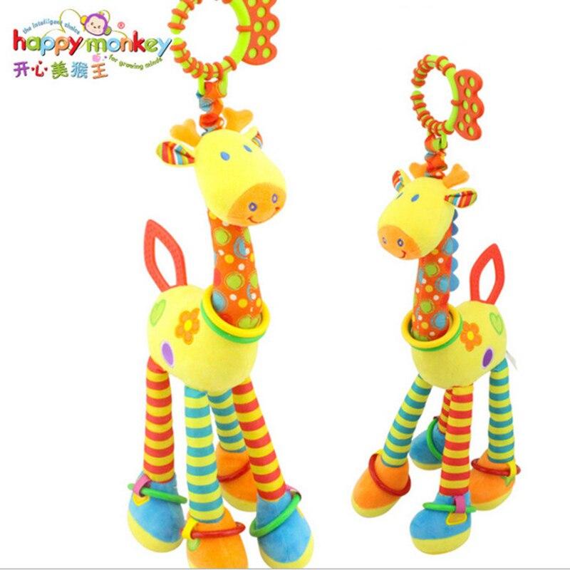(46 см) плюшевые игрушки для младенцев, мягкий жираф, животное, Искусственное искусство, Милые Плюшевые коляски, колокольчики для кровати