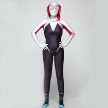 Women child Spider Gwen Stacy 3D Printed Zentai Spiderman Cosplay Costume Spandex Lycra Anti-Gwen Venom Gwenom Bodysuit
