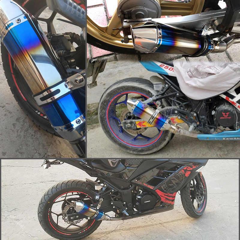 オートバイの排気管マフラー akrapovic 修正されたエスケープモトと Db のキラーのため tmax 530 FZ6 CB400 MT07 スクーター KTM ピットバイク