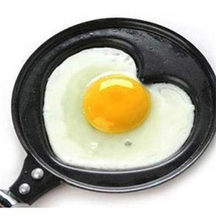 High Quality Cartoon Heart Shape Egg Mould Pan Mini Breakfast Egg Pans For Kids Outdoor Kitchen Non-stick Egg Mold Cookware