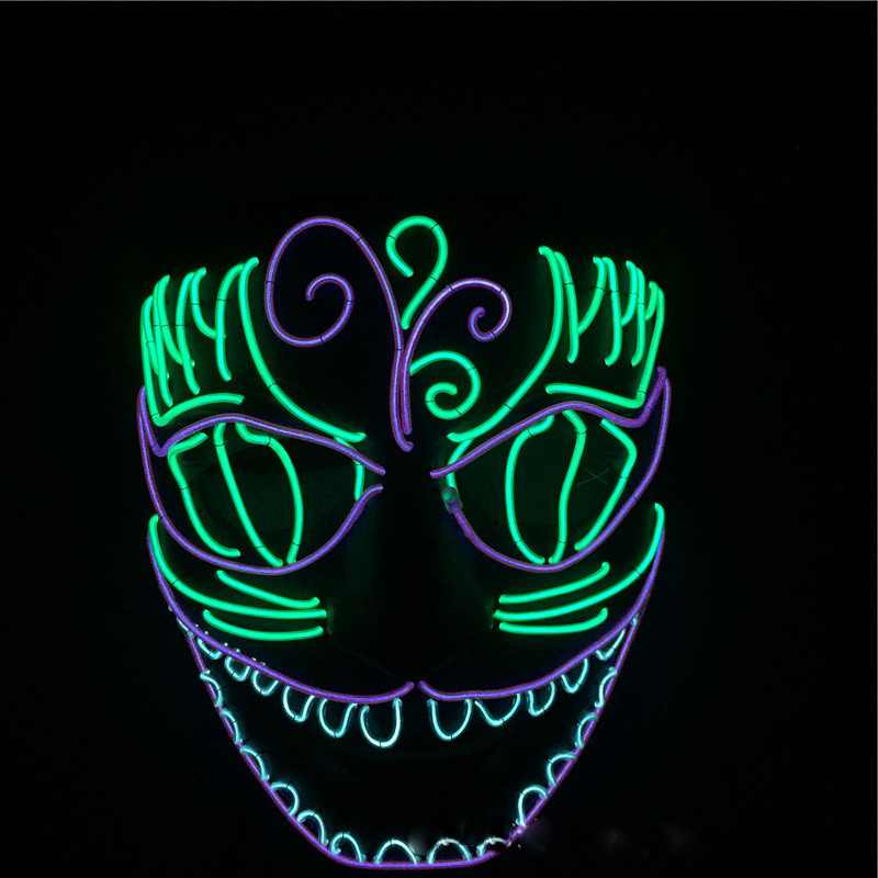 Halloween LED Mask Full Face Dance Mask Party Supplies DIY ...