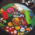 1.5 м Хлопок Дети Игры Коврики Ребенка Ползать Одеяло Раунде Плей Мат Chilren Играть Ковер Игры Ковер Детская Комната Хранения Багажа мешок