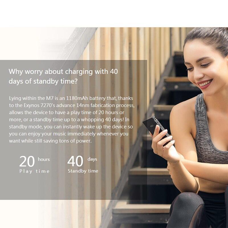 Image 5 - FiiO M7 аудио без потерь Музыкальный плеер MP3 Bluetooth4.2 aptX HD LDAC сенсорный экран с FM радио Поддержка Native DSD128MP3-плееры    АлиЭкспресс