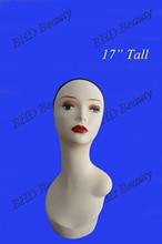 17 см пластиковые ПВХ манекен пенополистирол глава парик/Cap/Hat/ожерелье дисплей pzgd белый