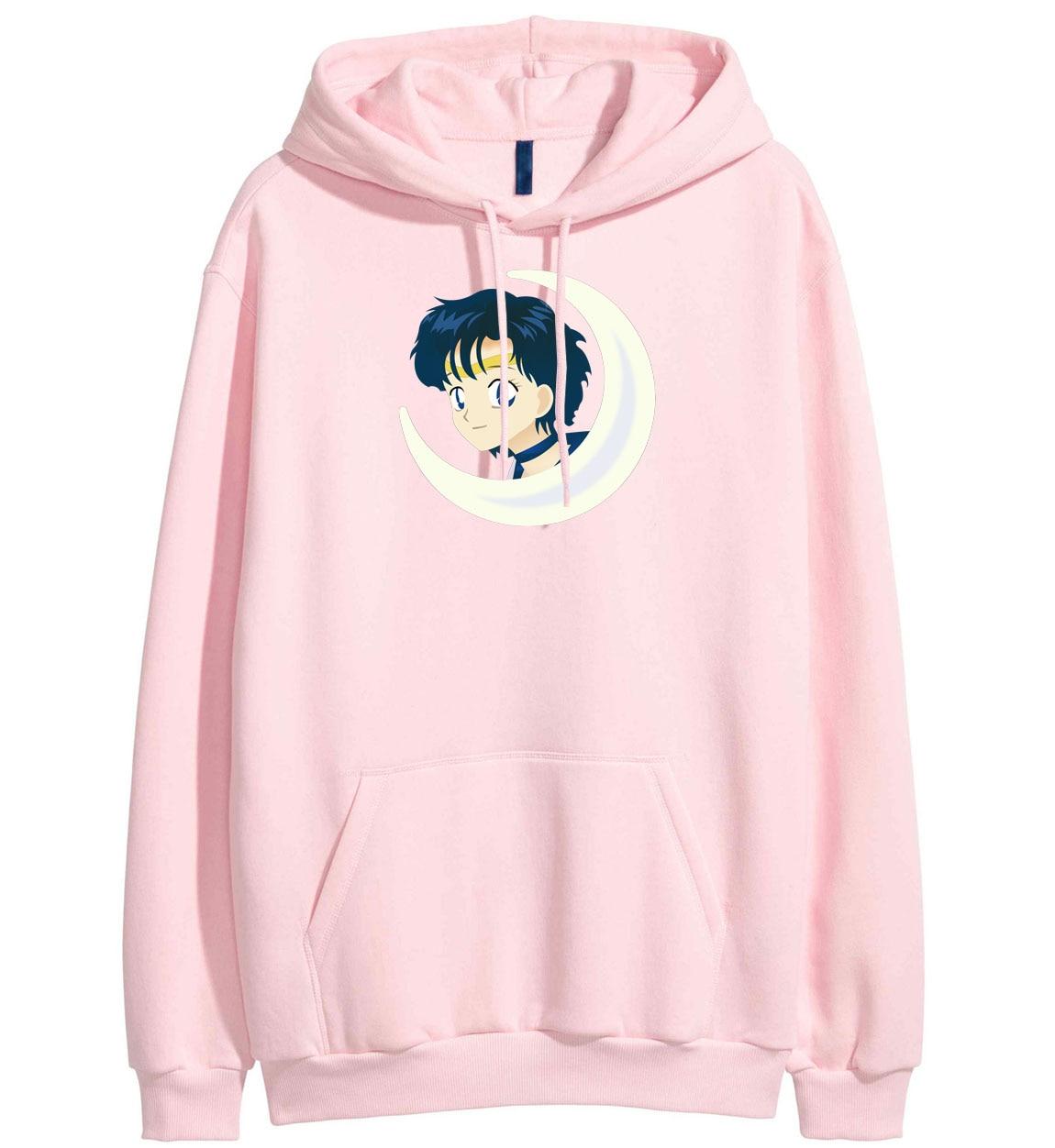 2019 New Arrival Hoodie For Women Brand Clothing SAILOR MOON Cartoon Print Kawaii Spring Fleece Winter Sweatshirt Harajuku Hoody