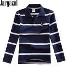 Polo Shirt Kids Clothes Stripes Boys Shirts Tops Cotton Camisetas Autumn Long Sleeve Shirt Casual Carters Polos Teen 3T-10T