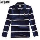 Polo Shirt Kids Clothes Stripes Boys Shirts Tops Cotton Camisetas Autumn Long Sleeve Shirt Casual Carters Polos Teen 3T-10T
