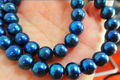 "Free shipping@@@@@ NATURAL AAA 18""8-9MM TAHITIAN GENUINE BLACK BLUE PERFECT PEARL NECKLACE"