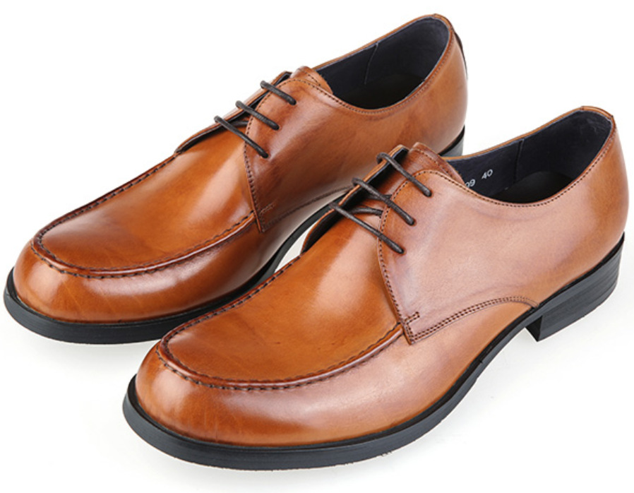 Brown Tan Black Mens Derby Shoes Genuine Leather Dress Office