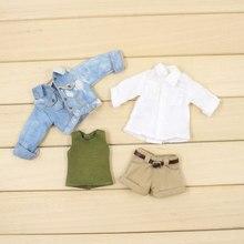 Blyth ICY Licca 1/6 аксессуары для кукол джинсовая куртка белая рубашка Короткие штаны