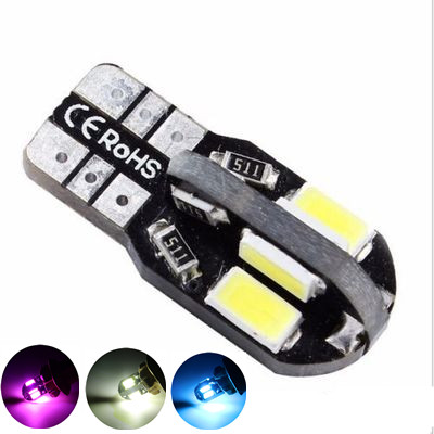 Car Light T10 8SMD 5630 LED Canbus NO OBC ERROR Auto Wedge Lamp W5W 8 SMD 5730 Led Parking Bulb 12V white ice blue pink 10pc car styling car auto led t10 194 w5w canbus 8smd 5630 5730 led light bulb no error led light parking t10 led car side light
