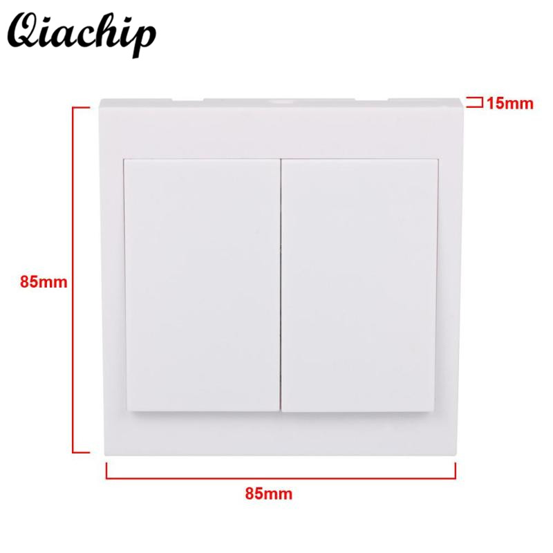 QIACHIP 433mhz 86 Wall Switch 2 Button Remote Control Switch Wireless Transmitter Switch Room For Smart Home Lamp Light LED Bulb 2017 free shipping smart wall switch crystal glass panel switch us 2 gang remote control touch switch wall light switch for led