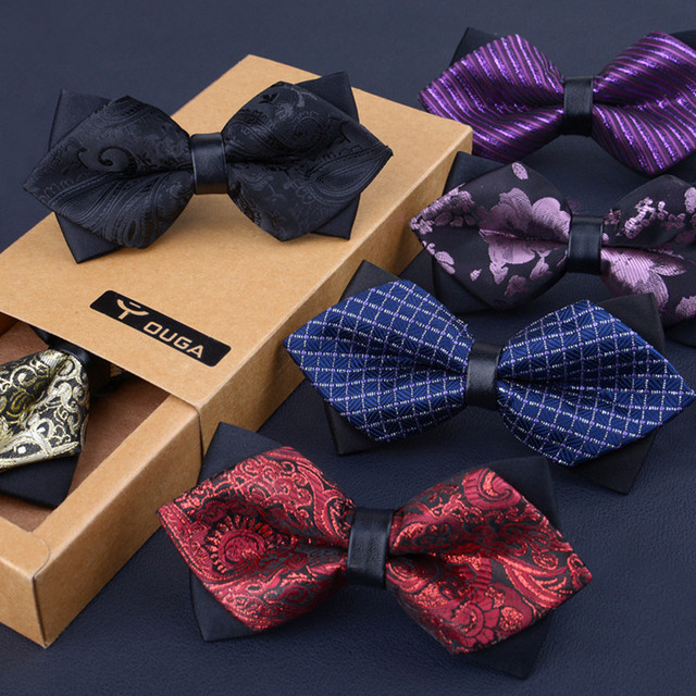 8f5990bd90ca 40 colors High-grade newest butterfly knot men's accessories bow tie black  red cravat formal