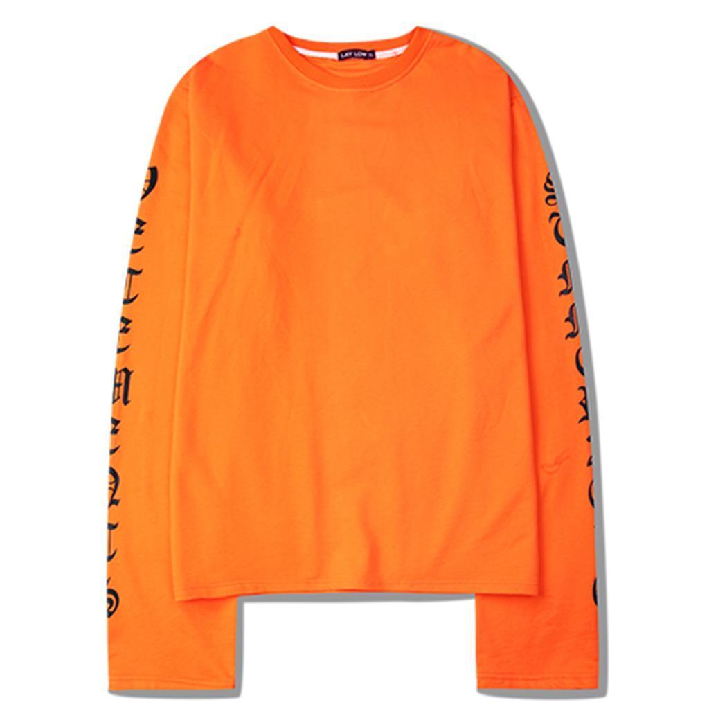 Sweatshirt Men O-Neck Long Sleeve Letter Print Pullover Casual Loose Women