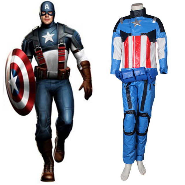 Nieuw De Avengers Captain America Kostuum Superheld Kostuum Pak Voor TU-75