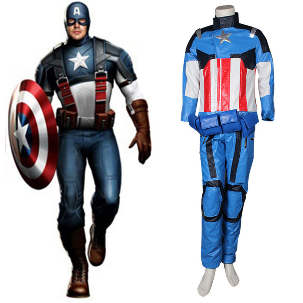 the avengers captain america cosplay costume superhero costume suit