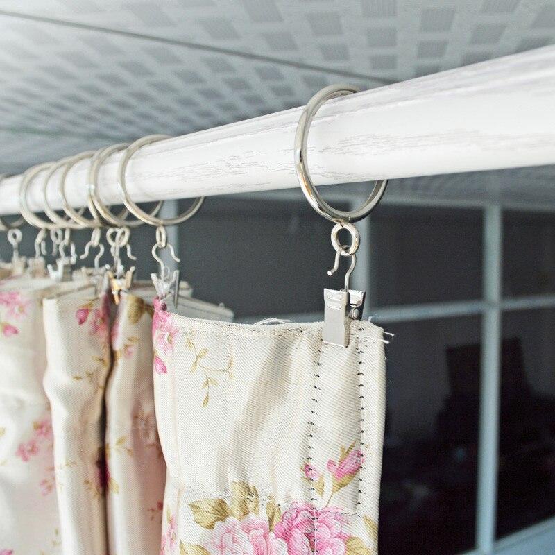 10 Units metal Curtain Rod Rings 2.5-3.2CM Window Curtain Rod Shower Curtain Rings Home Deco Window-Dressing Hardware