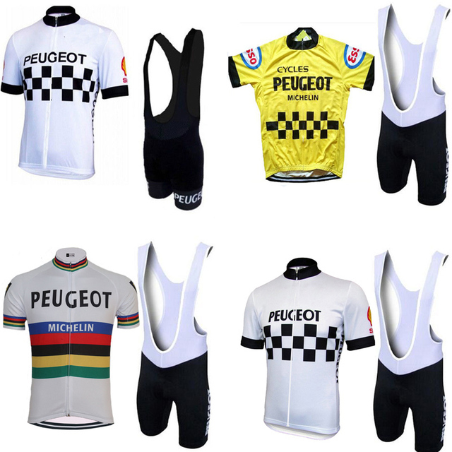 2018 peugeot classic Cycling Sets men red yellow cycling jersey cycling  team cycling clothing wear full 9ffb221ba