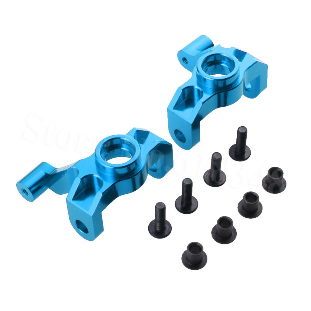 Aluminum Steering Hub Carrier Knuckle (L/R) 0005 For WLtoys 12428 12423 1/12 Scale Crawler Short Course Truck Upgrade Parts wltoys 12428 12423 1 12 rc car spare parts 12428 0091 12428 0133 front rear diff gear differential gear complete