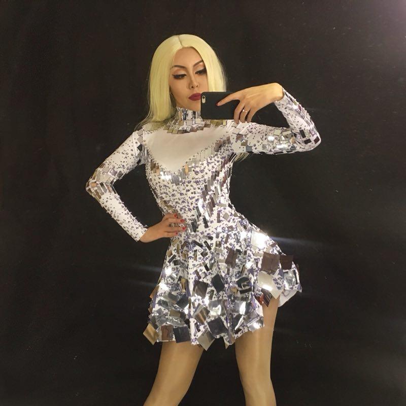 Здесь продается  Fashion Female Dance Bodysuit Sexy Dresses Stage Dance Costume Celebrate Leotard Women Singer One-piece NightClub Clothing  Одежда и аксессуары