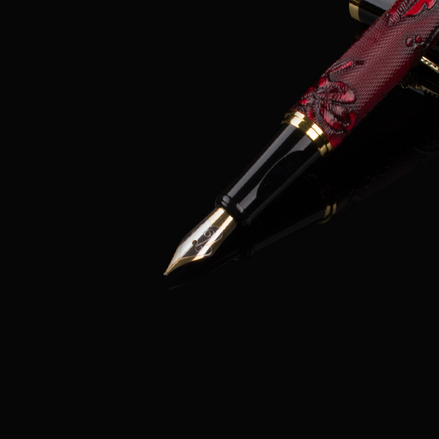 Arrival DIKA WEN Metal Brand F Nib Fountain Pen High Quality Ink Pens School Business Supplies For Student Gift 4