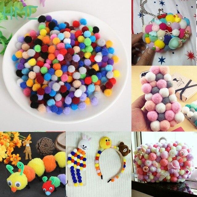 300 шт./лот 10 мм Разноцветные помпонами Soft Pom англичане Мячи DIY Швейные Свадебный Скрапбукинг декора