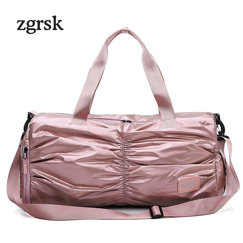 Female Top handle Luxury Handbags Women Bags Famous Brand Big Zipper Nylon Solid Evening Clutch Bags Pink Retro Bag Bolsas in Shoulder Bags from Luggage Bags