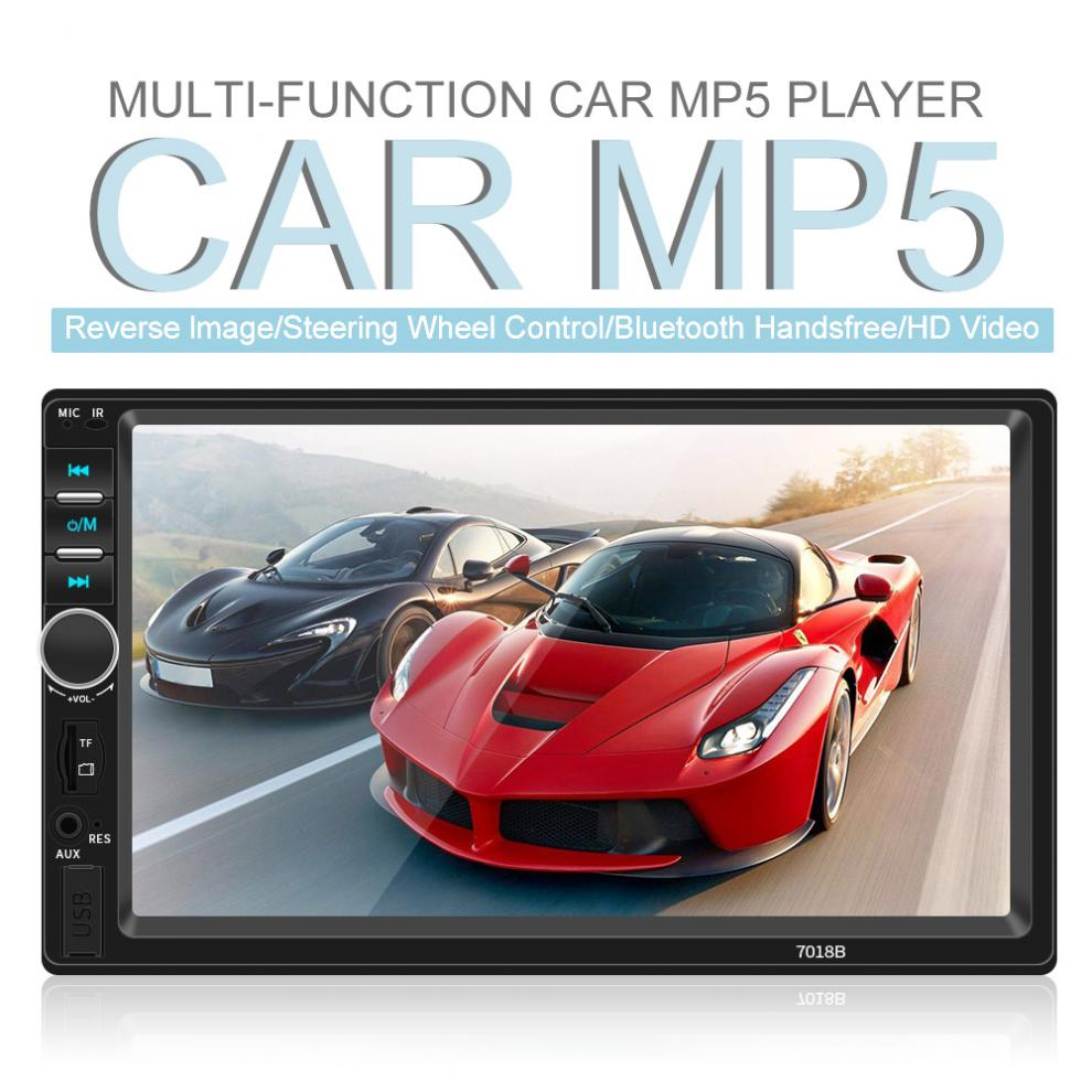 7 Inch 2 DIN Bluetooth In Dash Touch Screen Car Video FM Radio Stereo Player Support Mirror Link for iPhone and Android/Aux In