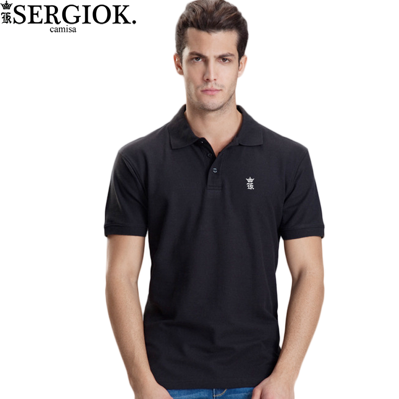 Sergio k Camisa Wide Waisted Polo Shirt Men Short Sleeve Mens Cotton Polo Shirts Brand Embroidery Casual Breathable Good Quality