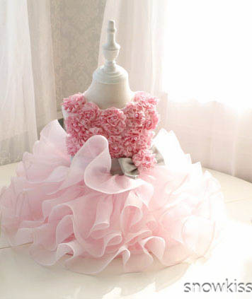 Knee-length blush Pink Flower Girl DressTiered tulle cupcake Toddler infant tutu Girl Birthday Dress classic erotica crazy girl pink cupcake 177 мл парфюмерный спрей с феромонами