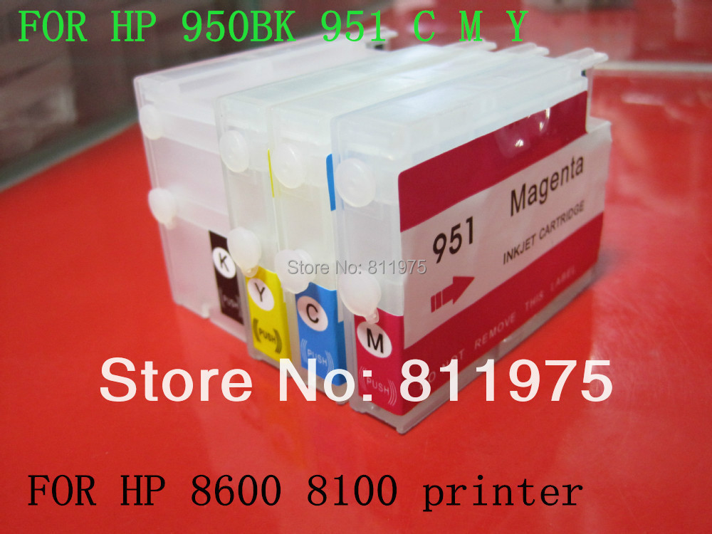 for hp 950 XL951 XL refillable ink cartridge Compatible For hp Officejet Pro 8100 8600 251dw 276dw 8630 8650 8615 8625 printer matrix 57322