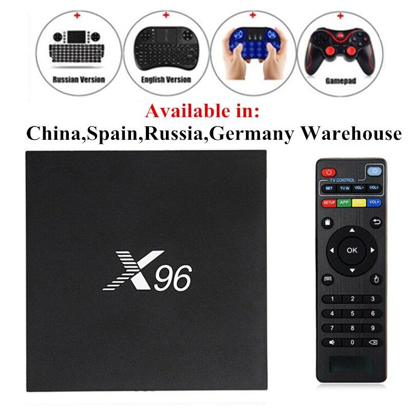 X96 Smart TV Box Android 6.0 Amlogic S905X 2.0 GHz Max 2 GB di RAM 16 GB di ROM 5G WIFI HD Set Top BOX Media Player PK X96 MINI TX3 MINI
