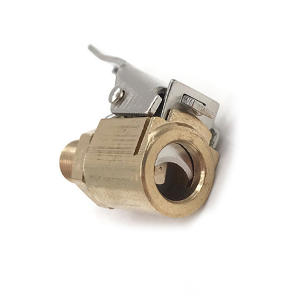 1pc Tire Valve Air Chuck Car Tyre Quick Inflator Clip-on Adapter Connector Brass