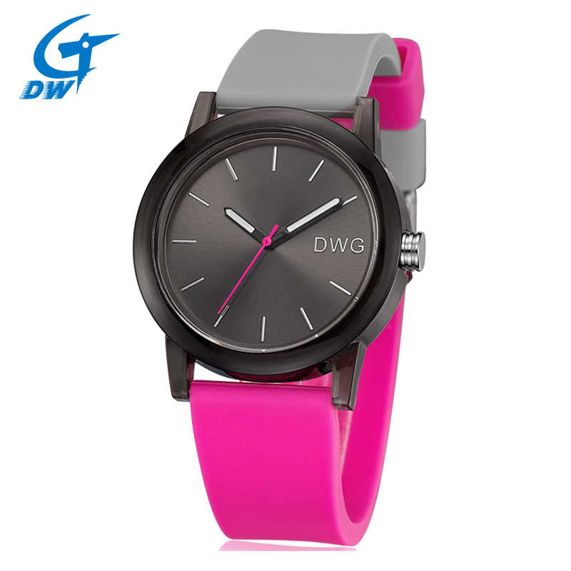 DWG Brand Fashion Sport Watches Silicone Band Ladies Watch Quartz Movement Wristwatch for Women Men Clock 3Bar Waterproof goblin shark sport watch 3d logo dual movement waterproof full black analog silicone strap fashion men casual wristwatch sh165