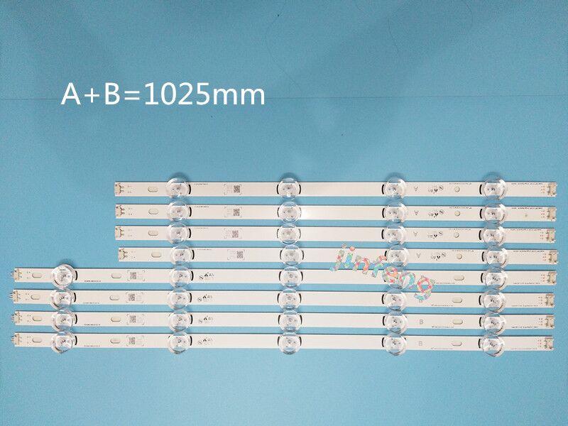 New 10 PCS set LED strip Replacement for LG 49LB580V 49LB5500 Innotek DRT 3 0 49