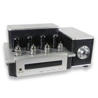 YAQIN ms 6v6 MS 6p6p ms6v6 ламповый Усилители домашние с 12AU7 12AT7 pre AMP Hi Fi push pull лампа AMP