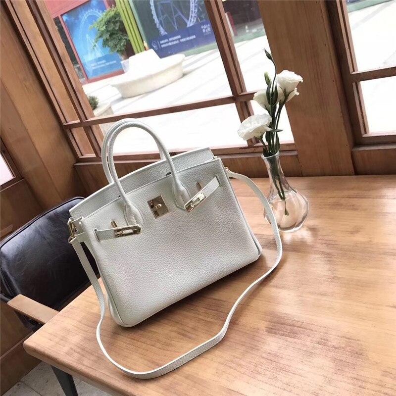 Haute qualité en cuir véritable blanc femmes sac à bandoulière de luxe sacs à main femmes sacs Designer bandoulière Messenger sacs pour les filles