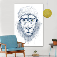 HDARTISAN Modern Graffiti Art Wall Pictures For Living Room Cool Lion Illustrator Animal Painting Home Decor Printed(China)
