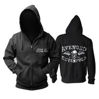 Bloodhoof Free shipping Avenged Sevenfold Punk Rock Heavy NightMare Hall to the King cotton black hoodie Asian Size