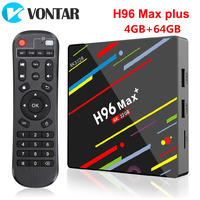 H96 Max Plus Android 9.0 Smart TV Box Android 8.1 RK3328 4G 64G 2.4G 5.8G Dual Wifi H.265 4K H96 Max + Google Player set top box