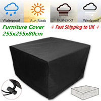 Black Outdoor Sofa Set Cover Waterproof Furniture Rain Protection PVC Cover Garden Outdoor Patio Canopy Shelter 2 12 Seater