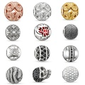 European Silver Plated DIY Beads fit for Pandora Bracelet Necklace Charms For Women Men Fashion DIY Charm Jewelry Bijoux
