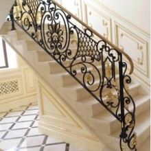 Hench 100% handmade forged custom designs fence modern stair railing