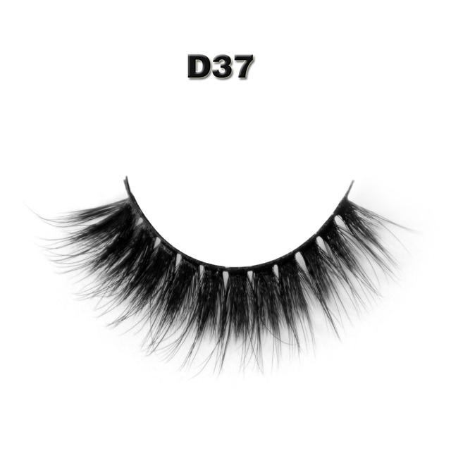 D37 cílios postiços Professional falso grosso cílios extensões de cílios maquiagem 1 pares por pacote com o modelo mostra